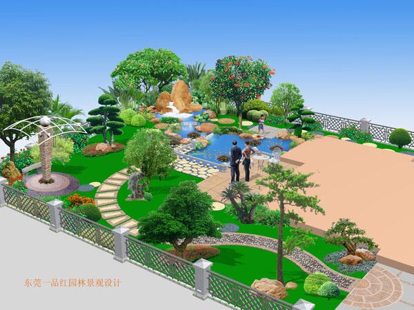 别墅-假山鱼池