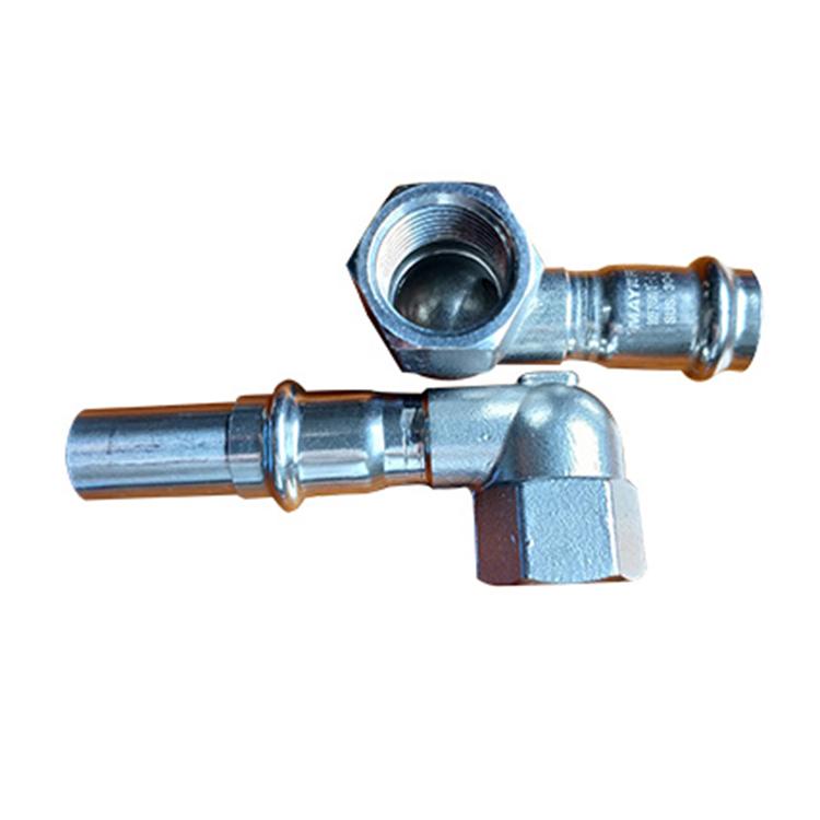 橫瀝卡耐夫卡箍溝槽管件安裝_方程建材_52S型異徑三通_國標彎頭