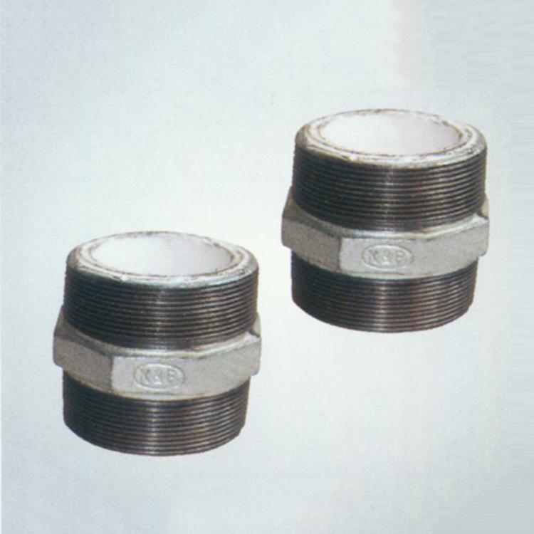 横沥钢塑外丝管件厂家直销_方程建材_钢塑补芯_08型机械三通
