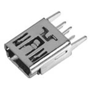 MINI USB 5P母座BType180°直腳