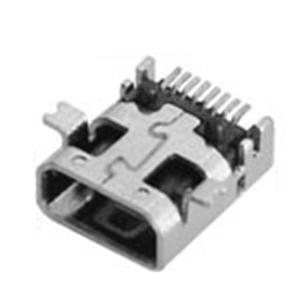 MINI USB 8P 母座前貼后插