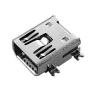 MINI  USB 5P母座B Type短體SMT式