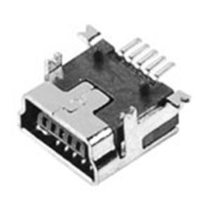 MINI USB 5P母座B Type 短體SMT前插后貼式