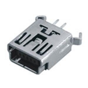 MINI USB 5P母座B Type180° Dip