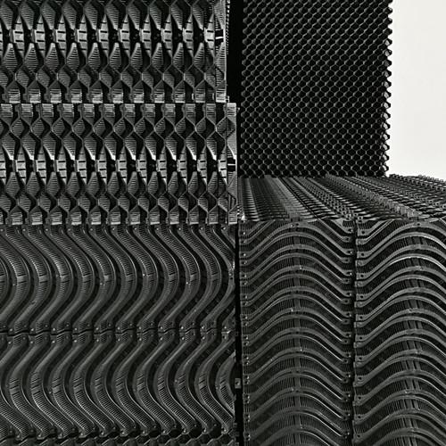 畜牧养殖PP降温水帘 塑料水帘 塑胶水帘 耐用可清洗塑胶湿帘纸