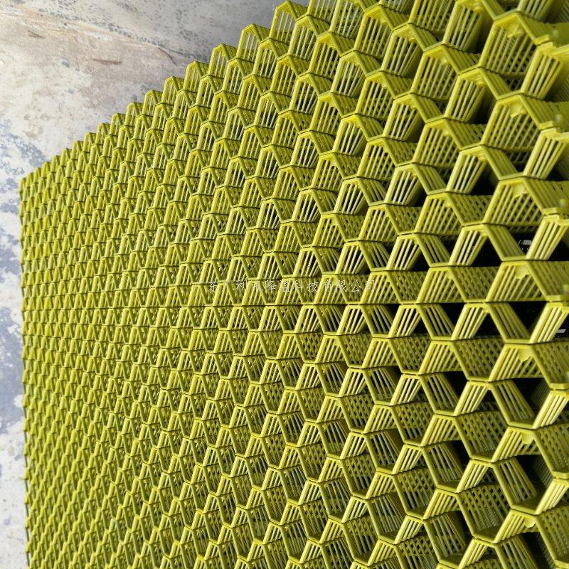 高效除尘降温黄色PPR塑料水帘带水帘框