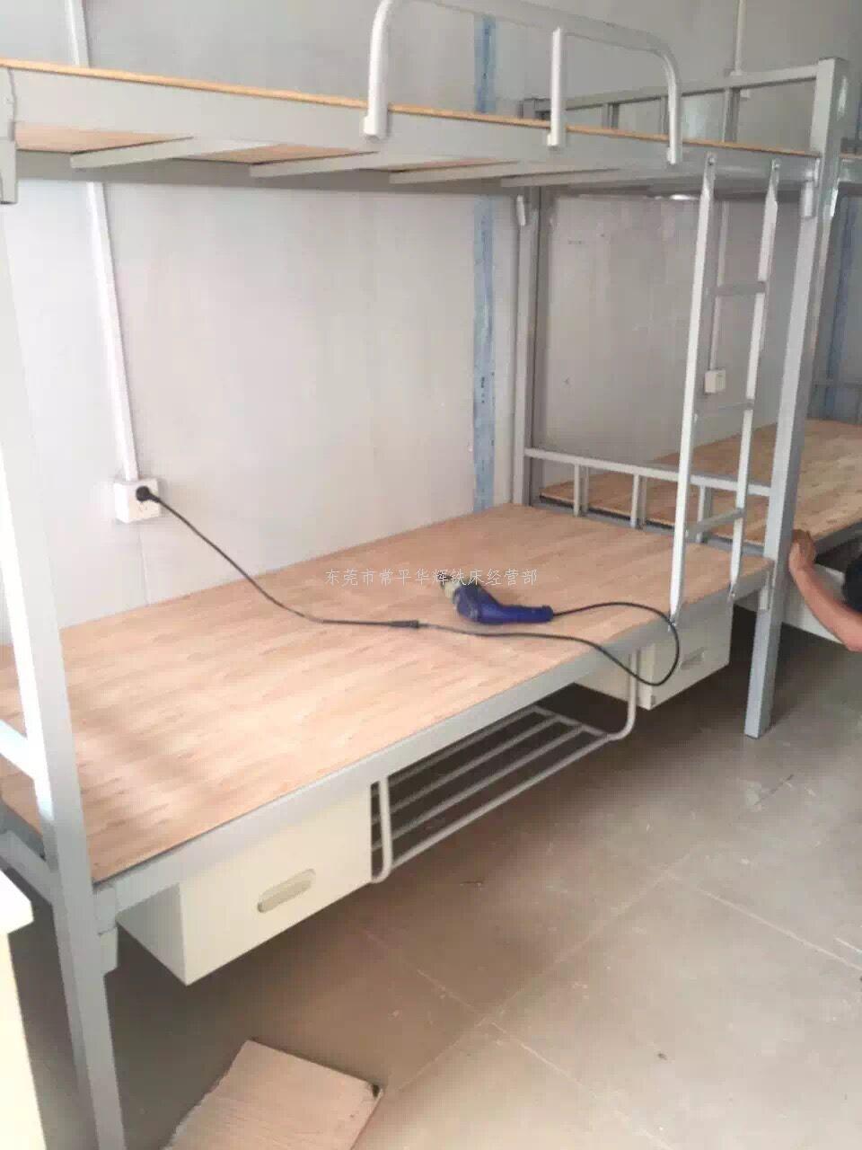 a026方管双层床,带鞋柜鞋架,员工最好用的床架