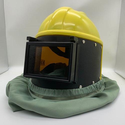 打砂头盔 喷砂头盔
