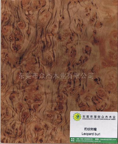 东莞众杰木业承接名贵豹纹树瘤贴面饰面板