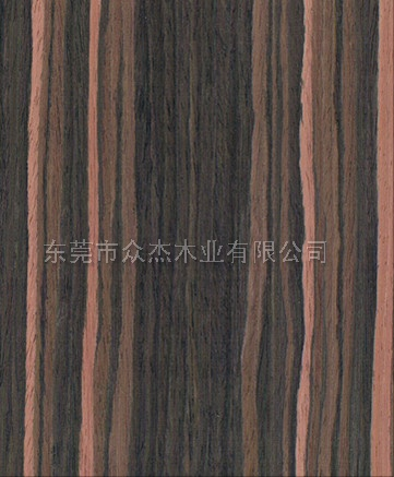 宽纹黑檀木 实木黑檀批发 东莞木皮产家 50丝木皮贴面