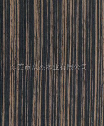 直纹黑檀木皮 原木黑檀木 实木木皮黑檀