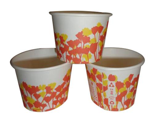 黄花纸碗16安