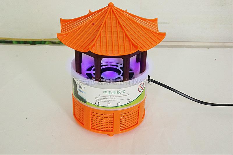 狮山牌智能光控捕蚊器带开关6个LED灯-八角亭,2012新款上市