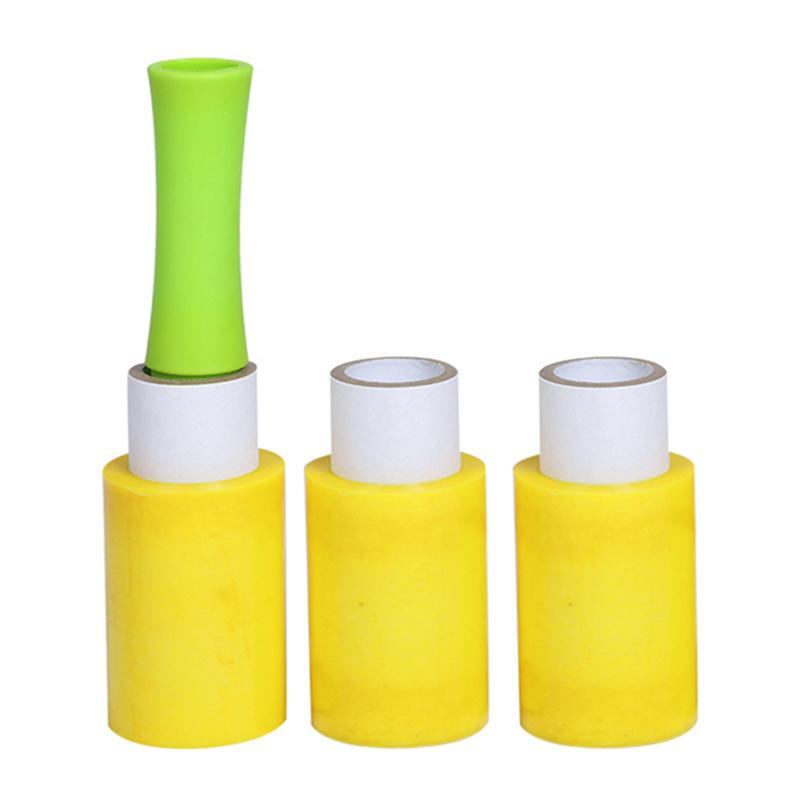 檸檬黃迷你拉伸膜活動手柄