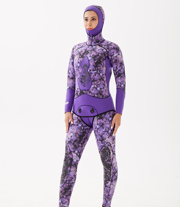 紫色潜水衣