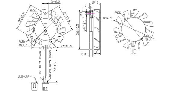 三角支架风扇df4010-d36