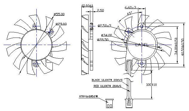 usb充电小风扇电路图