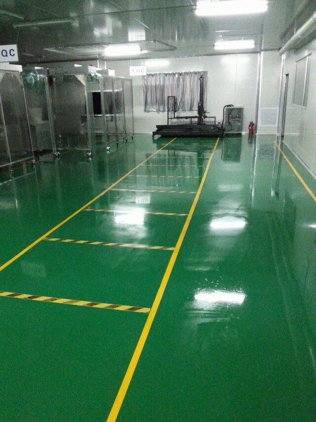 廠環氧樹脂地板打蠟效果圖 東莞海洋科技