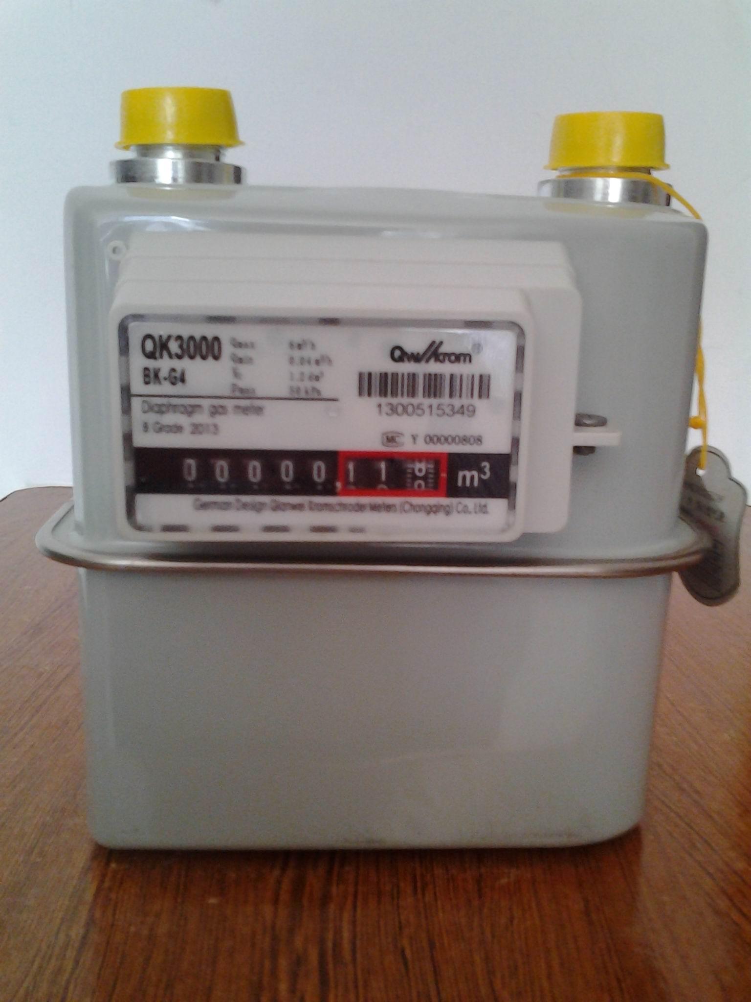 小区供气燃气表G4膜式燃气表厂家直销