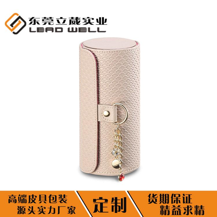 小巧圓筒式首飾盒 首飾盒廠家專業定制飾品收納盒