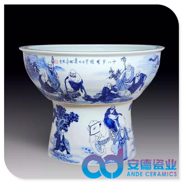 風水陶瓷大缸 陶瓷花盆 禮品陶瓷缸 酒店大堂擺設陶瓷大缸