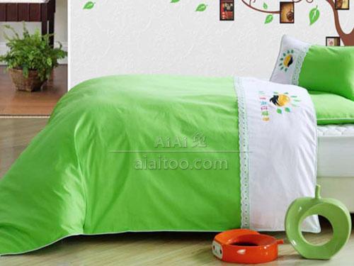 幼儿园棉被B1503绿色定制