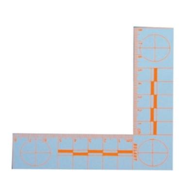 8×8厘米橙色直角熒光比例尺