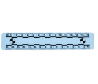 15厘米白底PVC比例尺