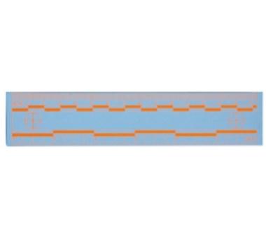 15厘米橙色熒光比例尺