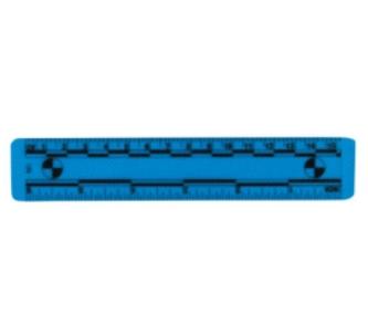 15厘米亞光透明PVC比例尺