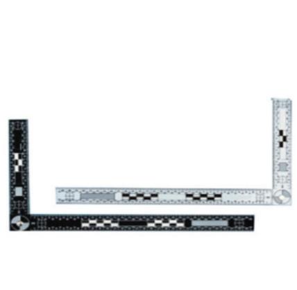 30×15厘米雙面黑白折角尺