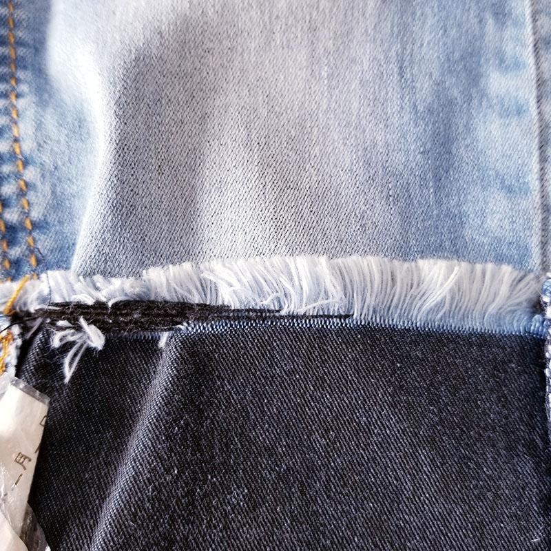 竹纤维弹力牛仔面料厂家报价_柏比宏纺织品_竹节_黑面黑底