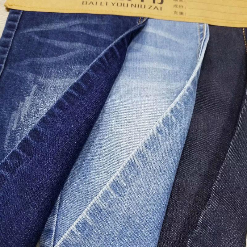 柏比宏纺织品_男装_赛络纺竹节直竹弹力牛仔面料厂家供应
