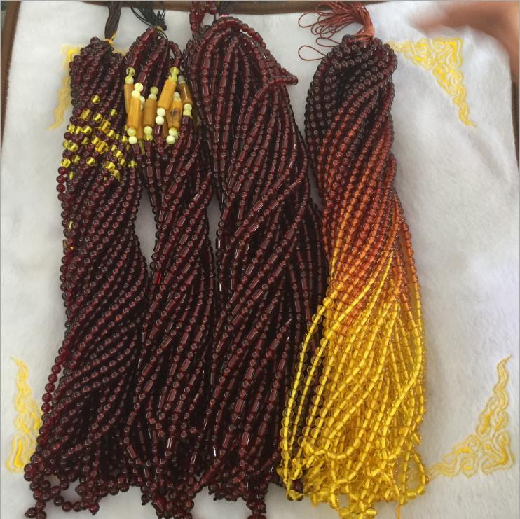 Muslim 108 Prayer Marble ROUND amber tesbih rosary