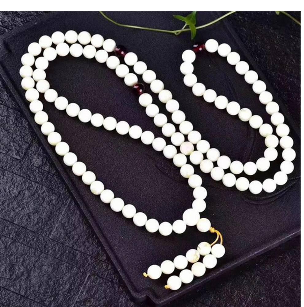 white color amber Muslim prayer beads round beads shape