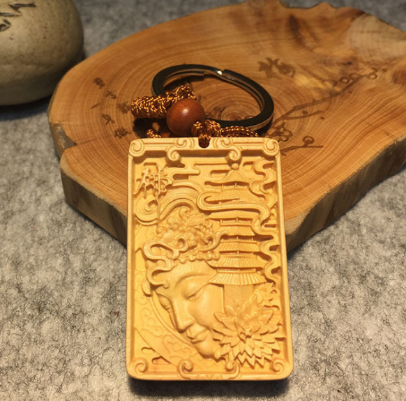 2019 beautiful carved wooden sign/keychain/wood label