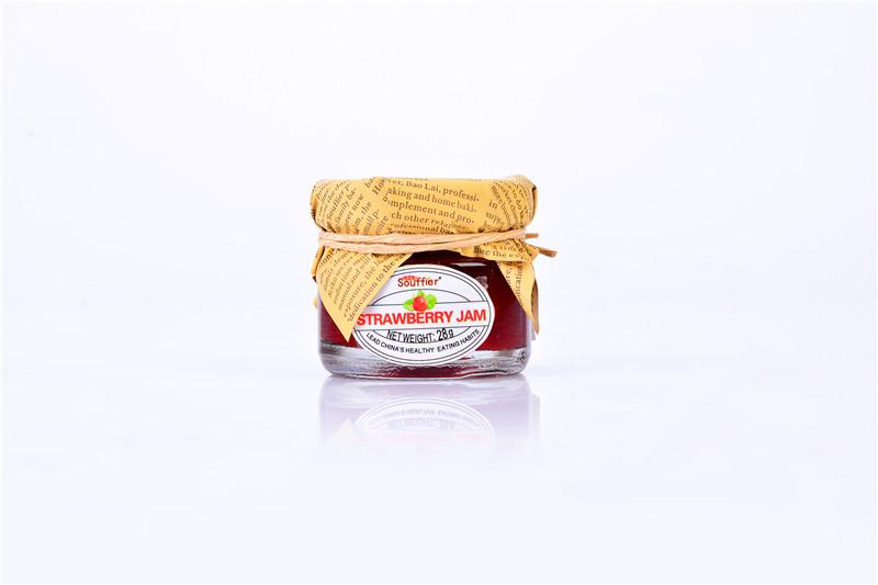 舒芙蕾果醬28g家庭旅行體驗裝草莓果醬 草莓果醬 手工果醬 草莓醬