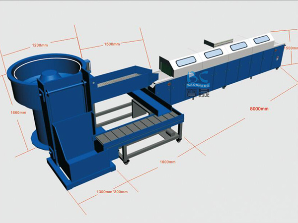 供应全自动通过式【振动研磨生产线】 边进边出振动研磨机