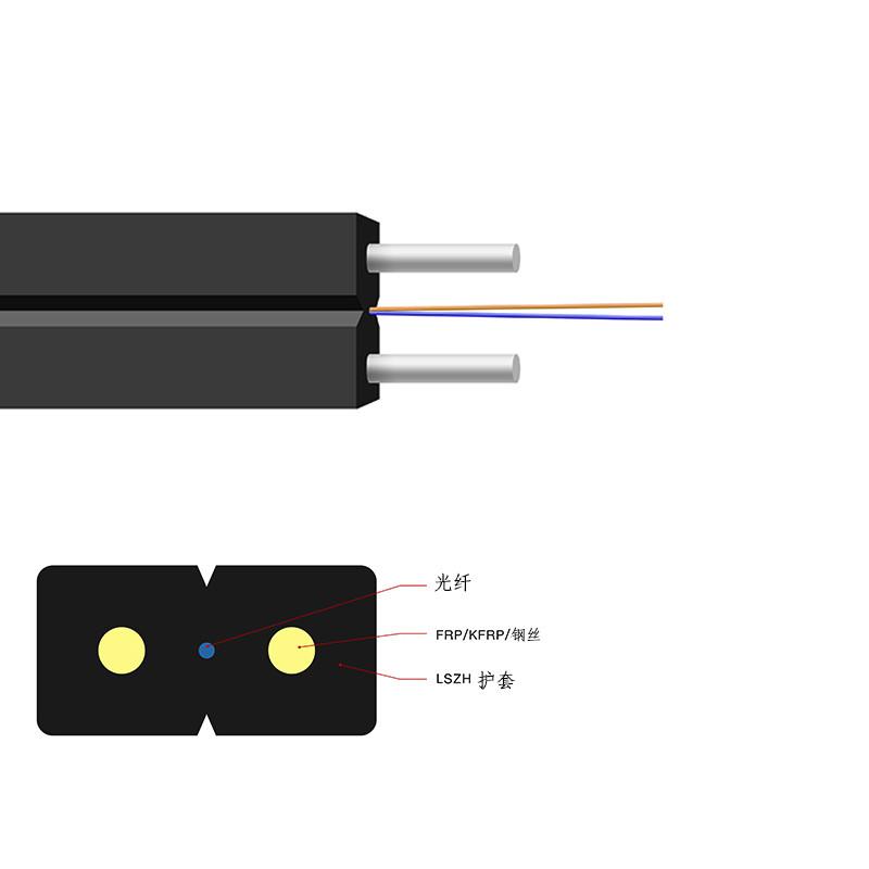 光纤线皮线光缆一公里多少钱_聚纤缆_双芯_安防监控_非铠装_单模