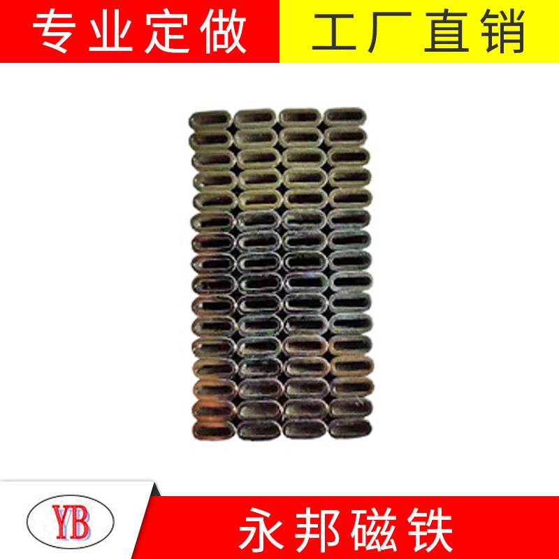 沧州环形钕铁硼磁铁批发_永邦磁业_超薄_圆柱形_电机用_u型