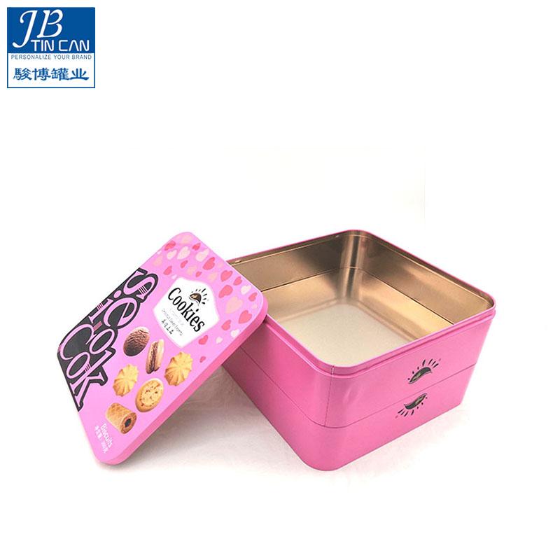 多功能_彩色印刷餅干盒制造工廠_駿博罐業