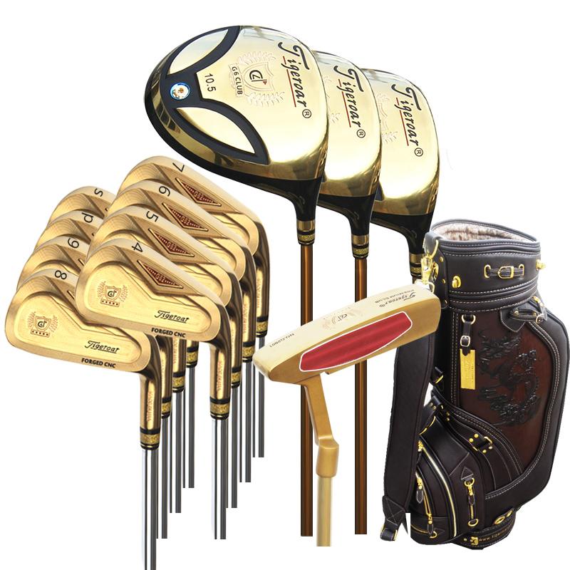 Tigeroar正品 高尔夫球杆 G62尊贵黄金版男士成人套杆 区域包邮
