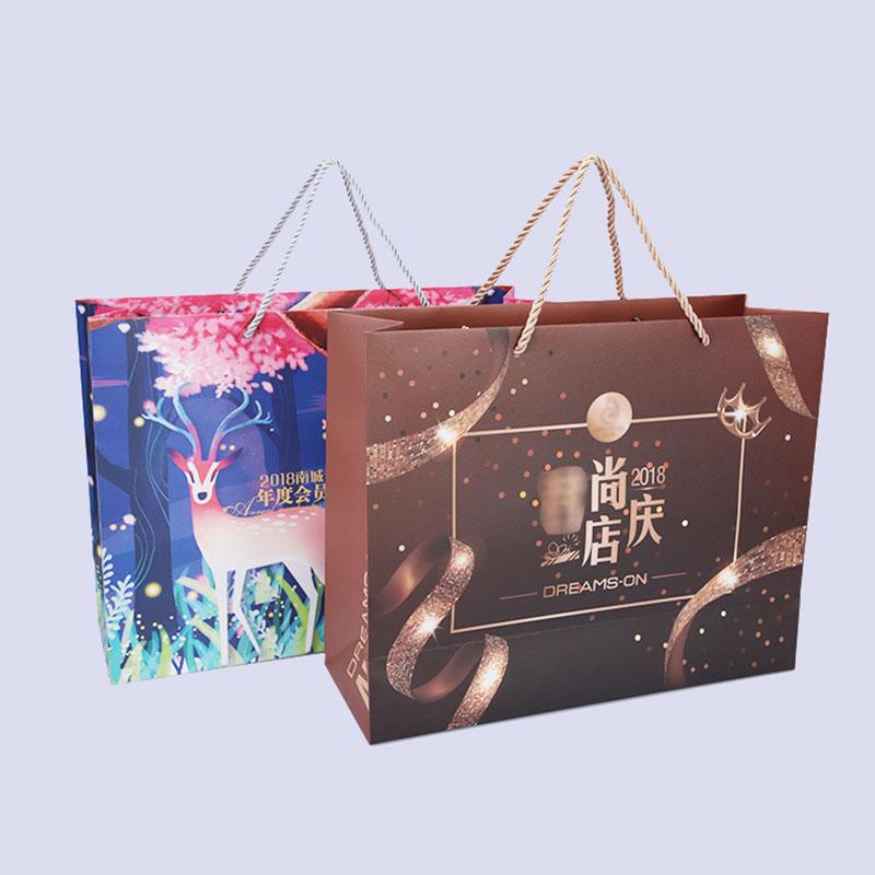 服装店礼品袋印刷定制厂家_长印印刷_结婚_百货商场_精美_折纸