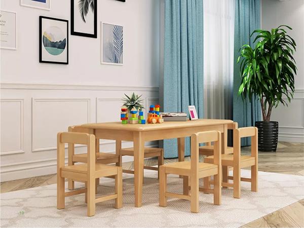 方脚有边六人桌