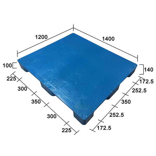 1412(c)平板九腳塑膠托盤定制