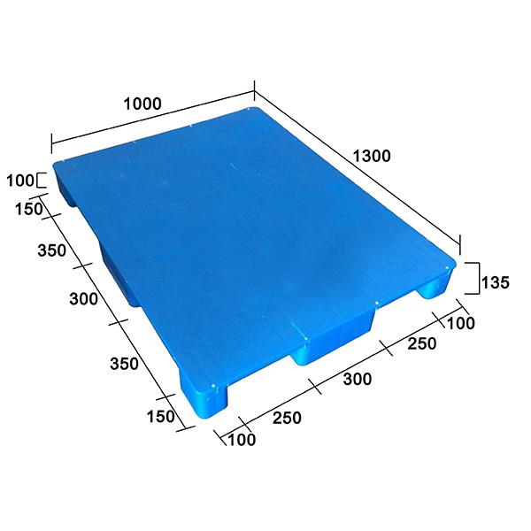 1310C平板九腳塑膠托盤