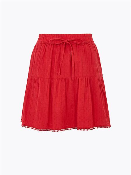 纯棉级小A线裙