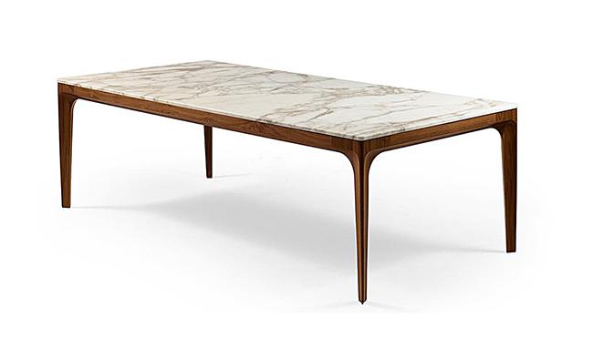 現代長理石面長餐桌