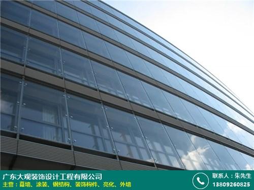 代理商 從化玻璃幕墻定制 大觀裝飾