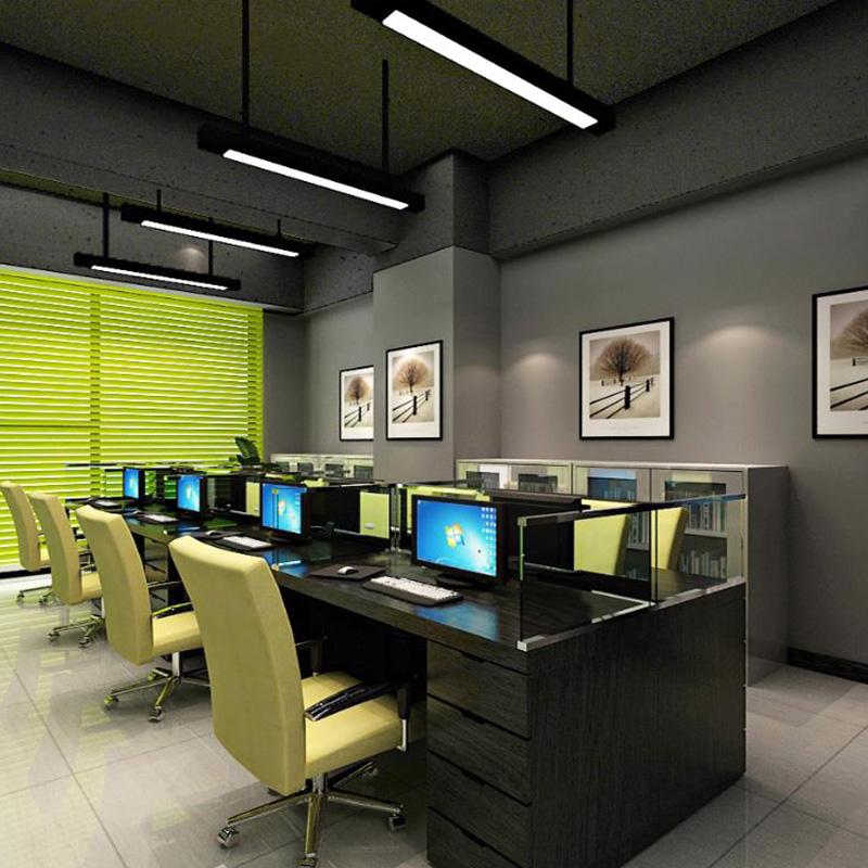 簡約風格辦公室裝修平面圖_大海_工裝_老板_網絡公司_大型企業